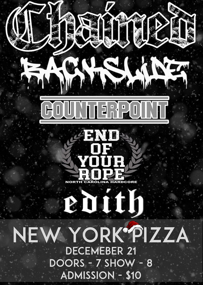 2019-12-21 - Counterpoint - New York Pizza Greensboro NC - 7pm